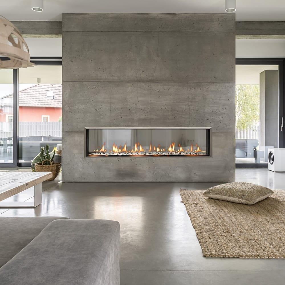 SIXTY0 Built-In See-Thru Fireplace