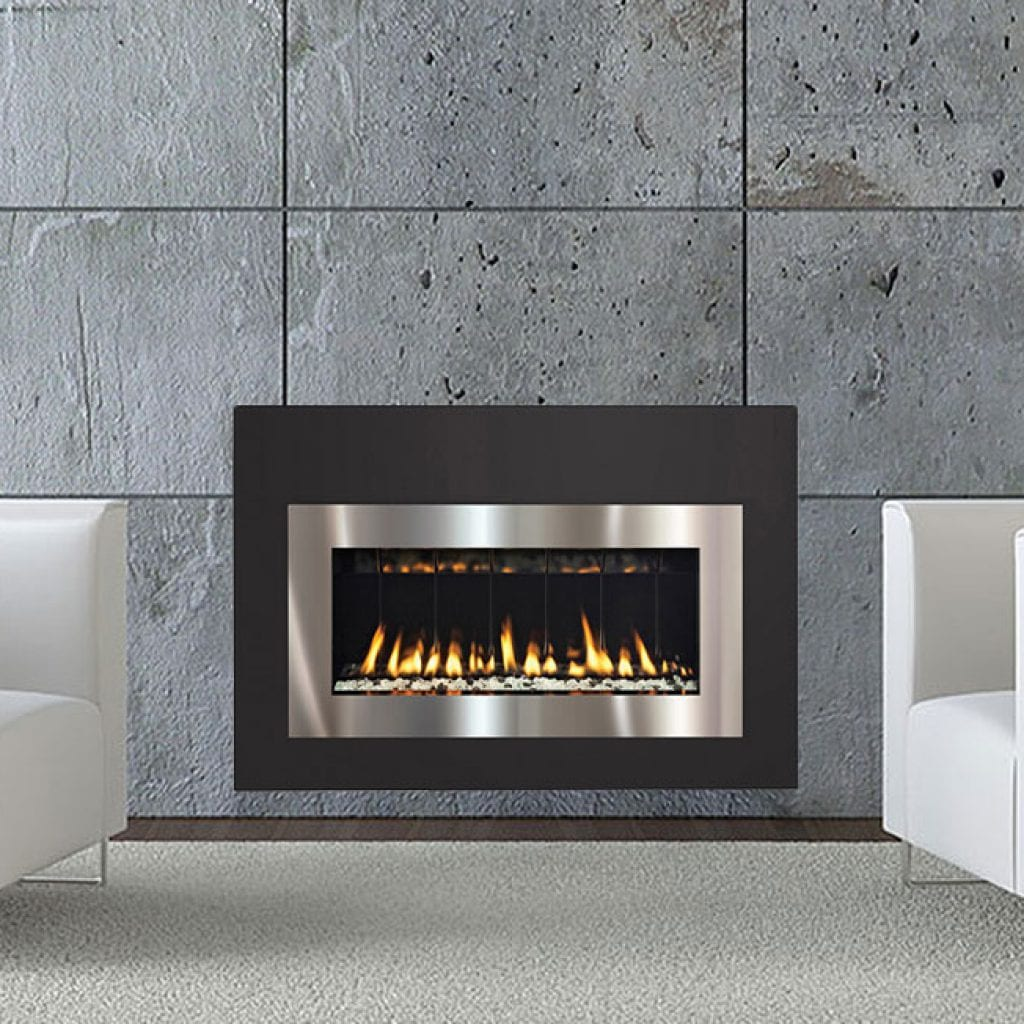 Insertcontemporary Gas Insert Fireplace