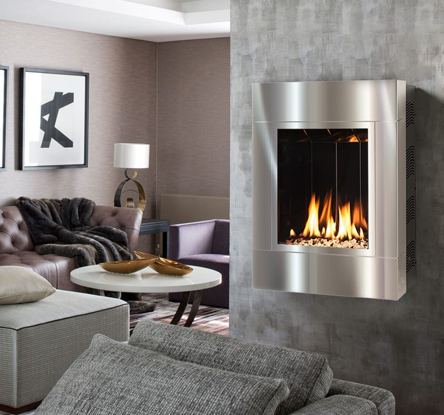 ONE6 Vent Free Fireplace with Stainless Steel Surround