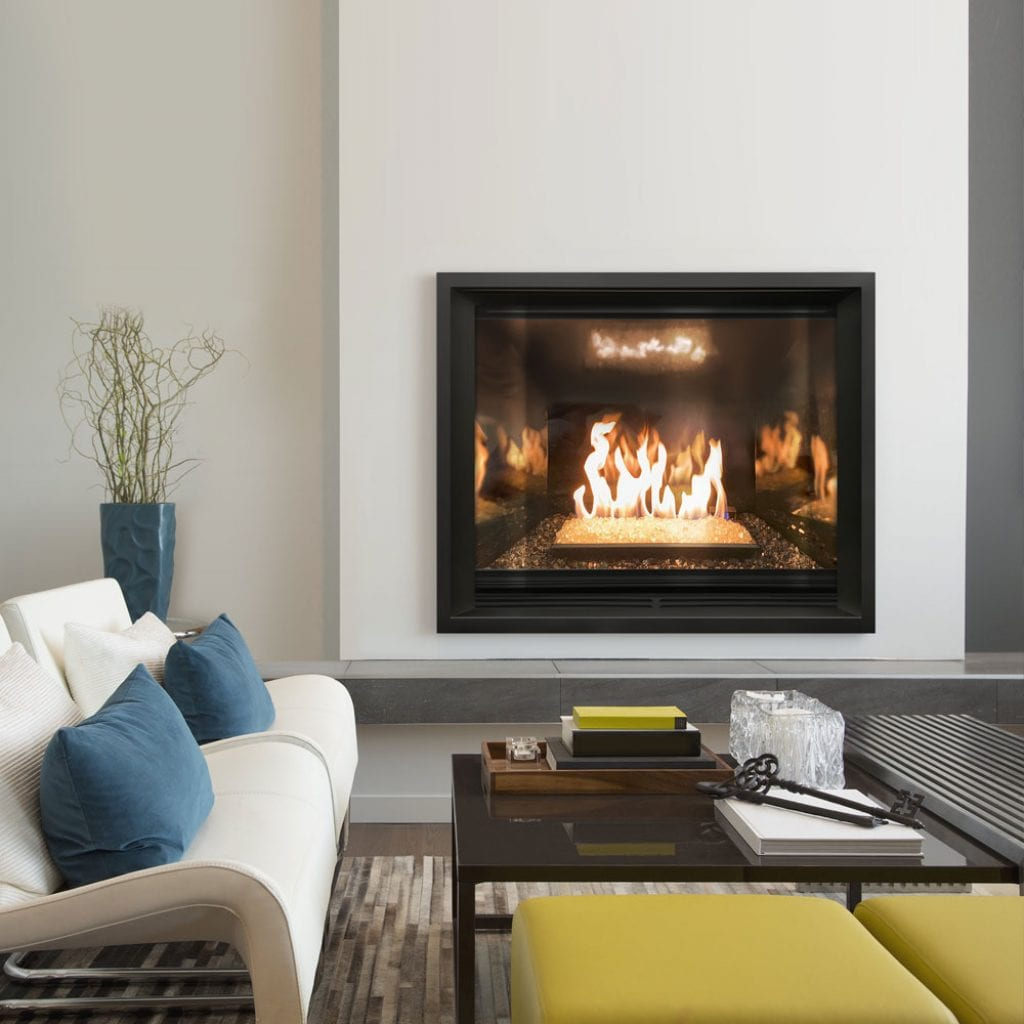 THIRTY8 with Contemporary Fire Glass Burner